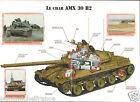 Armored AMX 30 B2 Cavalerie Démineur DT France 2000 FICHE CHAR TANK