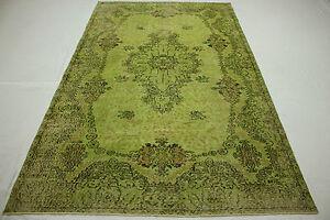 Orient-Tapis-Vintage-moderne-280x170-vert-Used-Look-noue-a-la-main-T28