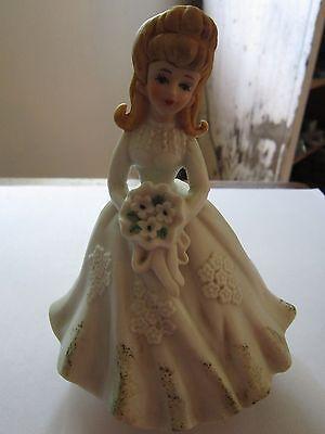 "lefton musical ""here comes the bride"" bisque wedding bride"