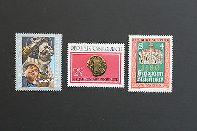 Liberal Austria Stamp To Produce An Effect Toward Clear Vision Yvert And N Tellier°1475 à 1477 N Stamp Austria cyn5
