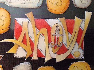 "Creative Imaginations ""PIRATES""Epoxy Scrapbook Stickers,Renae Lindgren•Ahoy"