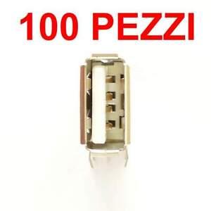 100 pezzi presa USB A per PCB THT verticale 4 pin laterale