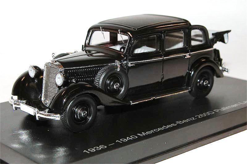 Esval modelle, 1936-40 mercedes - benz 260d pullman landaulet, offen, schwarz, 1   43