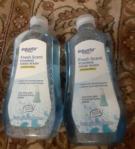 2-Equate-Fresh-Scent-Foaming-Hand-Wash-32oz-Refill-Antibterial-exp-04-2022