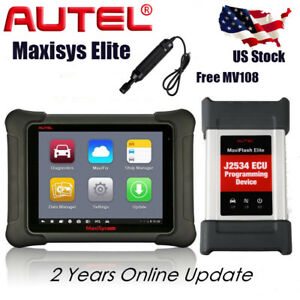 US Autel MaxiSYS Elite Diagnostic Scan Tool 2534 Reprogramming Better Than Pro