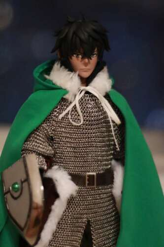 "1:6 Figure Accessory Green With hat Fur Collar Cloak Cape For 12/"" Male Doll Toy"