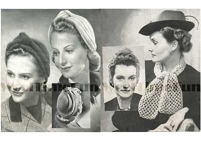 Vintage 1940s Turban Knitting Pattern From Unravelled Wool Just £1.79!!!