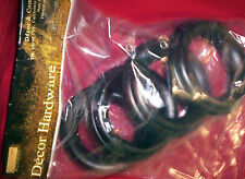 """EYELET WOOD Curtain RINGS 4-1/4"""" out for 2-1/2"""" diam. Pole, Dark BRONZE color. 4"""