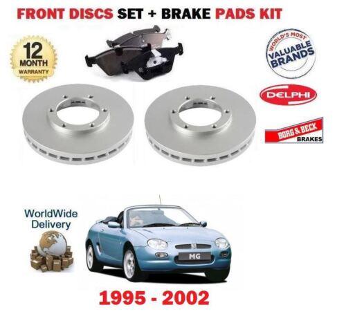 Almohadillas De Disco Kit Para Rover Mg F MGF 1.6 1.8 1995-2002 Nuevo frente Discos De Freno Set