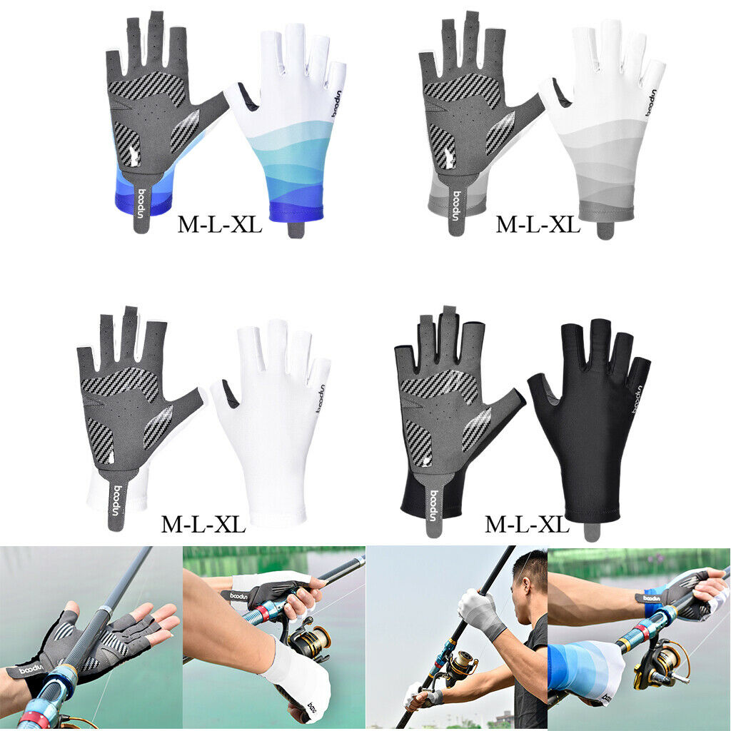Bike Cycling Half Finger Gloves Short Finger Outdoor Sports Fishing Mitts