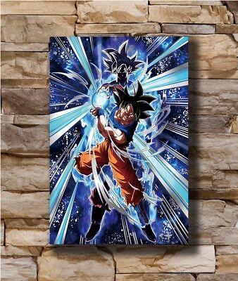 Dargon Ball Super Ultra Instinct Goku Japan Anime Art Silk Poster 12x18 24x36
