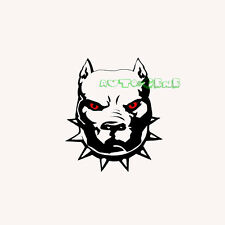 Red Eyes Bulldog Angry Dog Vinyl Sticker Decal Can Stick On Car Window Or Body