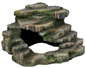 Turtle-Steps-Aquarium-Fish-Tank-Cave-Terrapin-Turtle-Basking-Rock-26cm