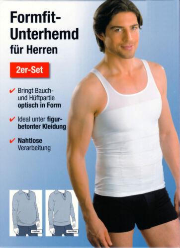 FormFit Bauchweg TISANA Sotto Camicia Uomo personaggio Top 2er-set Taglia M bianco