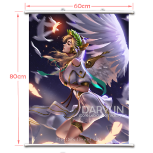 31.5/'/') Game OW Overwatch Mercy Wall Scroll Poster free shipping(23.6/'/'