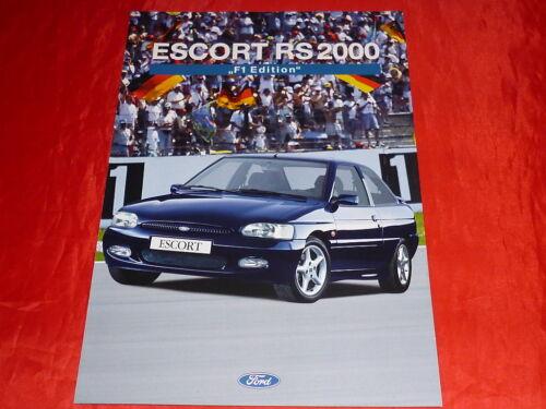 """FORD ESCORT RS 2000 /""""f1 Edition/"""" speciale prospetto modello di 1995"""