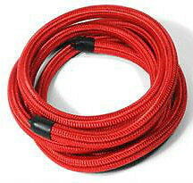 -6 AN Pro's Lite Red Braided Nylon Fuel Line Hose 350 PSI Nitrile Inner Core