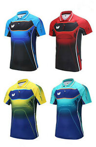 2019-New-Quick-drying-men-039-s-Tops-Table-tennis-clothes-Tee-shirts-Logo-Print
