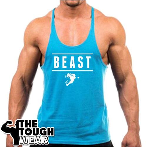 BEAST c320 Men/'s TankTop Bodybuilding Stringer Workout Fitness Gym Singlets