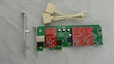 TDM410E 3FXO  1FXS Asterisk card Low profile PCI express card support elastix