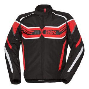 iXS Motorrad Jacke RS-400-ST Sprot Protektorjacke schwarz rot weiß XL