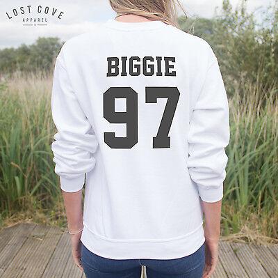 * Biggie 97 Jumper Sweater Rap Music Hip Hop Notorious Top Big Fashion Slogan *
