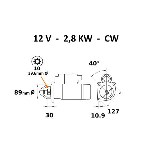 MF1014 Hydraulikpumpe Landini 10000,12500,14500 Case C75 C85 MF 1114  0510725365