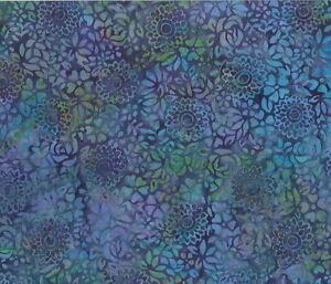 Hoffman-Batik-Bali-Chop-Packed-Floral-K2465-243-Delft-Cotton-Batik-Fabric-BTY