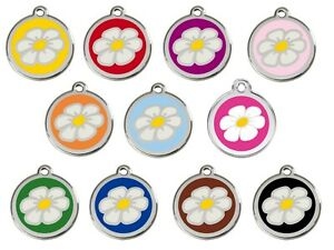 RED-DINGO-DAISY-Engraved-Dog-Cat-ID-identity-Tags-discs-ALL-COLOURS-1DA