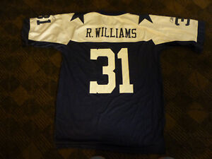 Reebok Dallas Cowboys 31 Roy Williams Blue Shoulder Stars Throwback ... 4db349acd