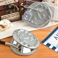 50 Round Compact Mirror Anchor Design Wedding Shower Party Gift Favors
