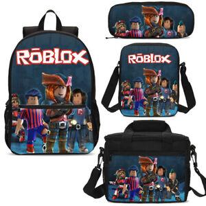 Anime-Roblox-Print-Kids-School-Backpack-Lunchbox-Messenger-Bag-Pen-Case-Gift-Lot