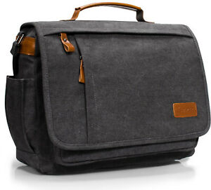 Estarer-17-3-inch-Laptop-Messenger-Bag-Mens-Water-Resistant-Canvas-Satchel-Bag