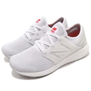 New Balance MCRUZRW2 D White Red Men Running Shoes Sneakers Trainers ... b41d4950ca3