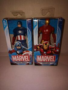 "Set of 2 Hasbro Marvel Avengers 6"" Action Figure Captain America and Iron Man..."