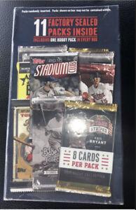 Topps Baseball Random Packs W/ 1 Hobby pack Guaranteed Factory sealed - 11 packs