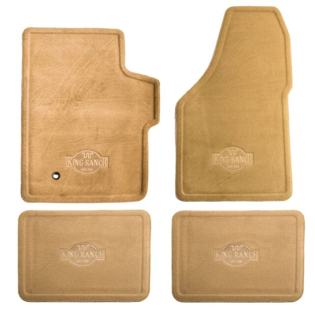 Ford Oe King Ranch Carpet Floor Mats 4 Pc Set 99 10 Superduty 5c3z1613300aaa For Sale Online Ebay