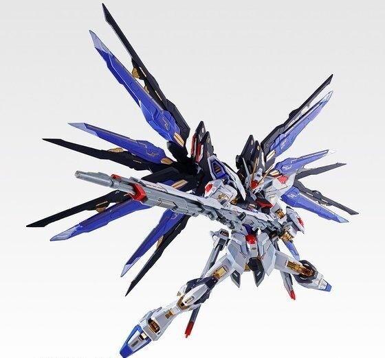 Metall Gebaut ZGMF-X20A Strike Freedom Gundam Soul Blau Ver Figur Bandai Neu