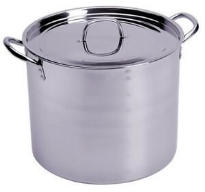 CONCORD-100-QT-Full-Stainless-Steel-Stock-Pot-w-Steamer-Home-Brew-Cookware-Beer