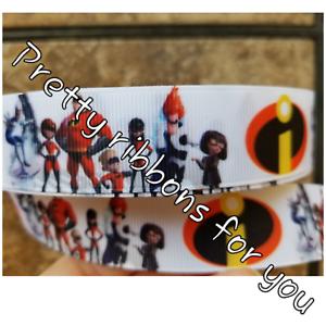 "Incredibles 3/"" wide grosgrain ribbon 2 yards listing"