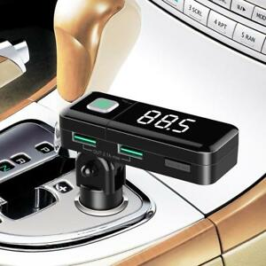 Auto-KFZ-Bluetooth-Freisprecheinrichtung-FM-Transmitter-2-USB-Ladegeraet-AUX-MP3
