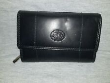 Ladies Luxury Soft Black Leather Purse By Lorenz 1230