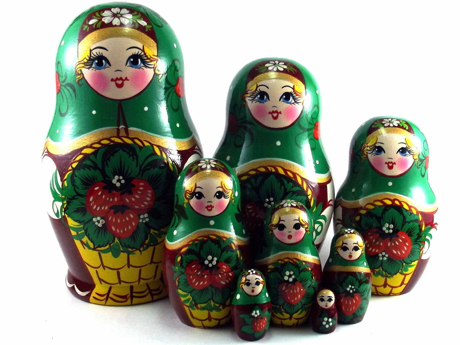 Nidification poupées Russe Matriochka traditionnelle babushka empilable Nouvelle set 8 pcs 6 in (environ 15.24 cm)
