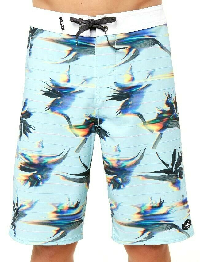 O'Neill HYPERFREAK PARSECS Mens Polyester Stretch Boardshorts 32 Air bluee NEW