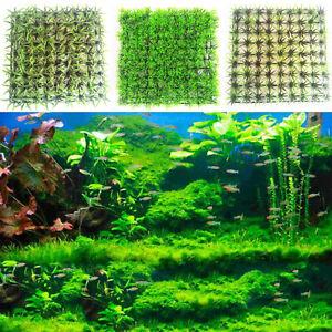 Aquatic-Green-Plastic-Water-Grass-Plant-Lawn-Fish-Tank-Landscape-Aquarium-Decor