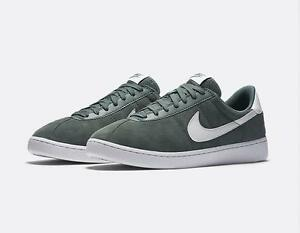 NIKE BRUIN 845056 300 HASTA GREEN/WHITE - SUEDE LEATHER - CLASSIC STYLE