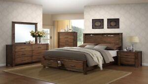 Details About Oakridge Storage Bed King Queen California King Platform Bedroom Set Furniture