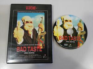 BAD-TASTE-MAL-GUSTO-PETER-JACKSON-DVD-EXTRAS-ESPANOL-ENGLISH-TERROR-HORROR