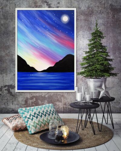 3D Starry Sky River 65 Fake Framed Poster Home Decor Print Painting Unique Art