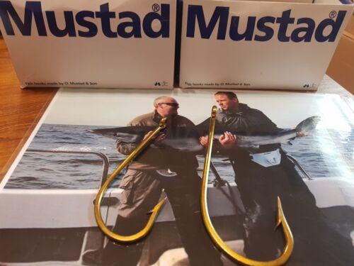 Mustad O/' Shaughnessy Bronzes Single Shark Hooks